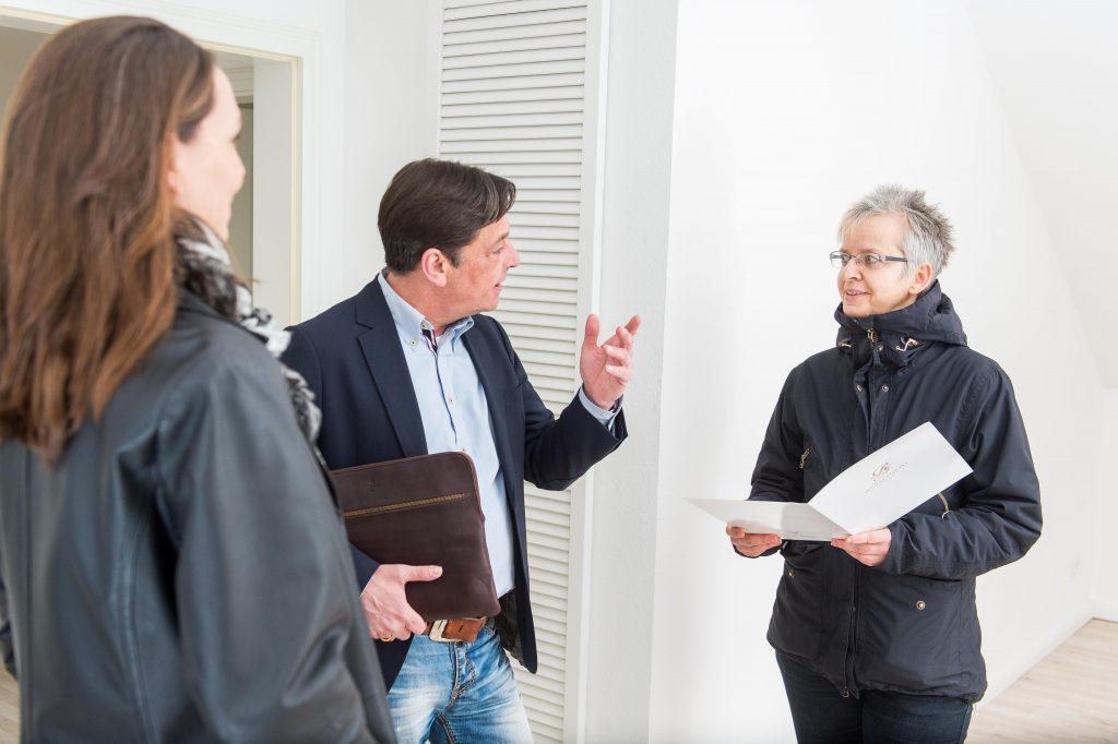 Immobilienverkauf- Besichtigung